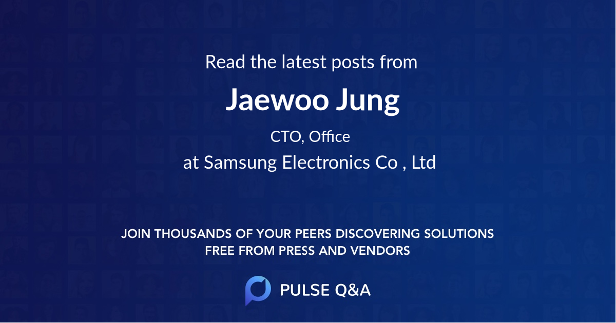 Jaewoo Jung