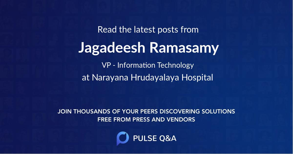 Jagadeesh Ramasamy