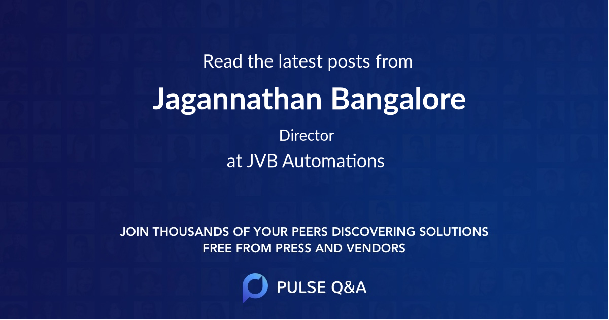 Jagannathan Bangalore