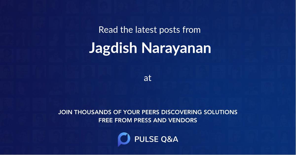 Jagdish Narayanan