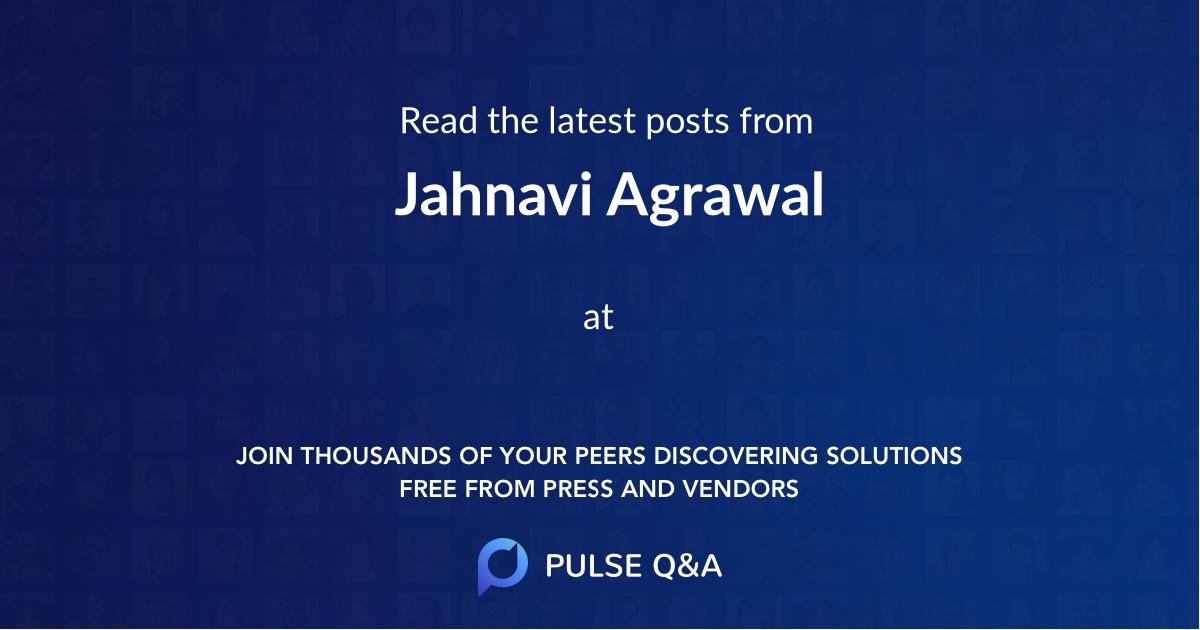 Jahnavi Agrawal