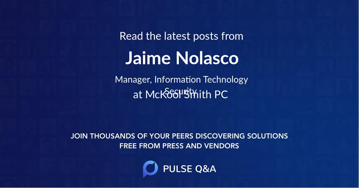 Jaime Nolasco