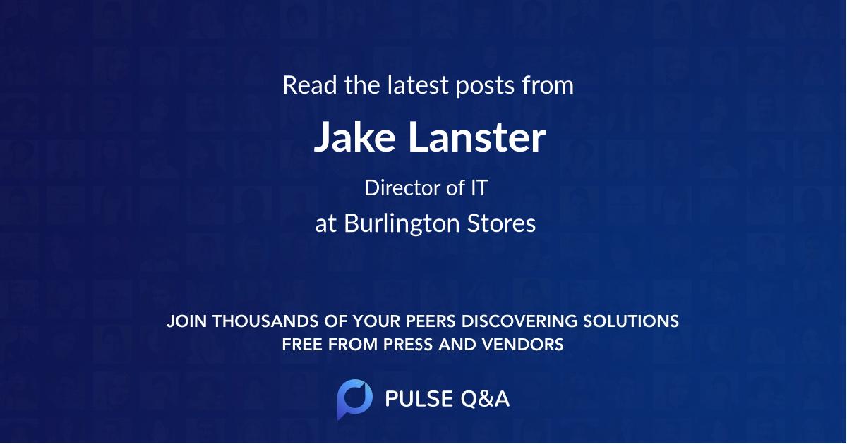 Jake Lanster