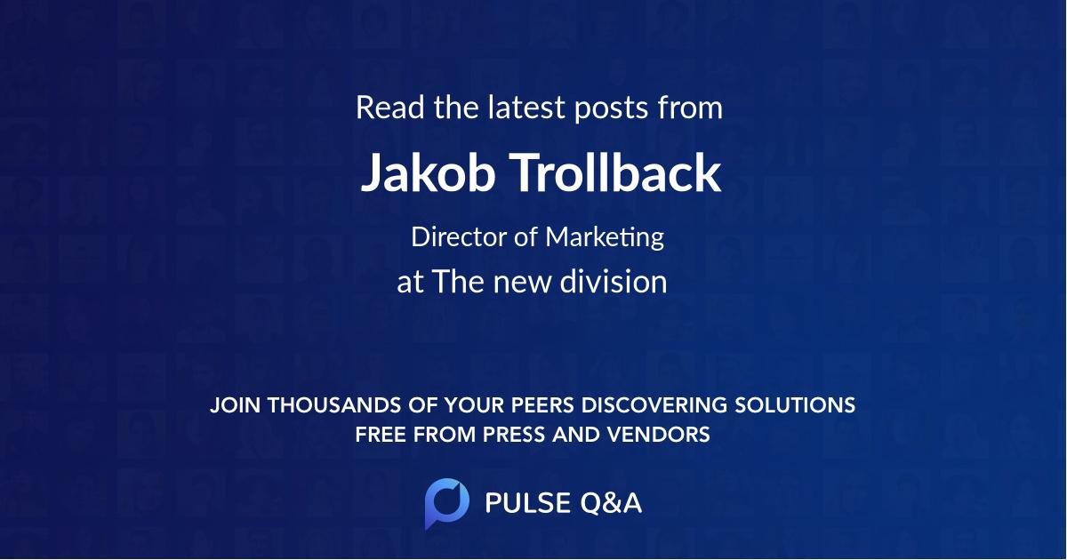 Jakob Trollback