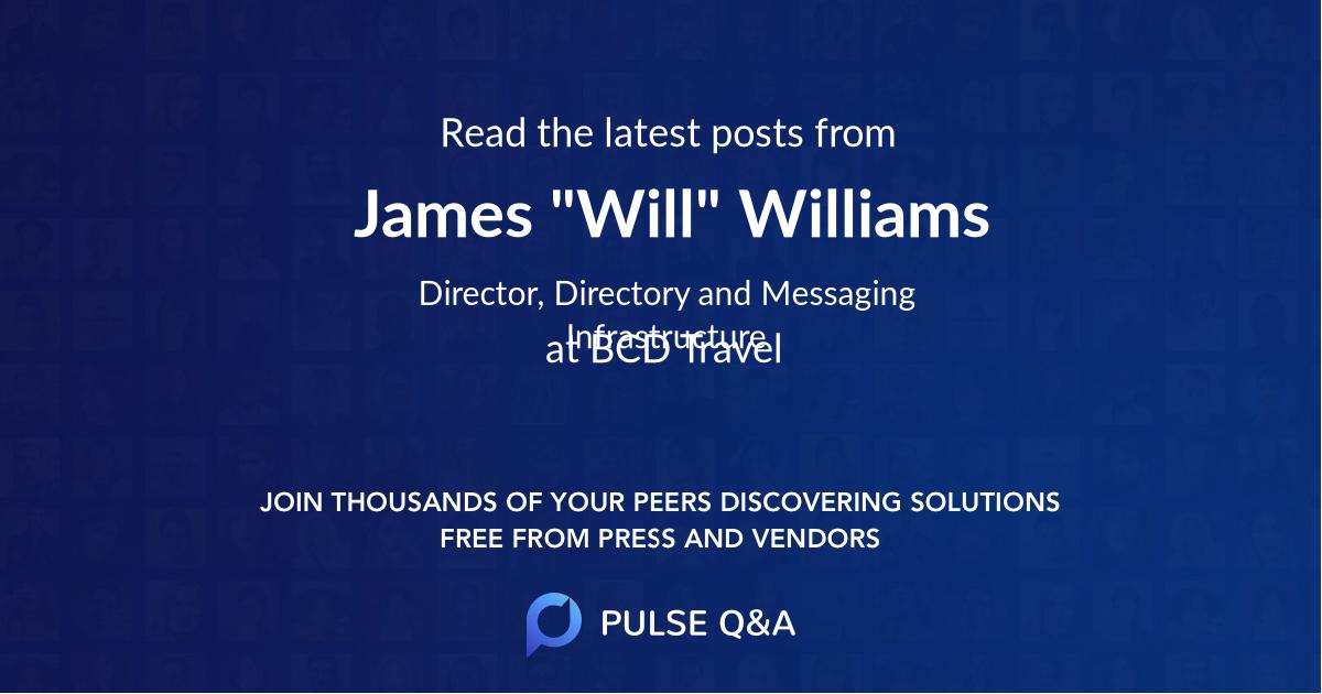 "James ""Will"" Williams"