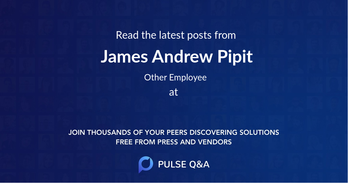James Andrew Pipit