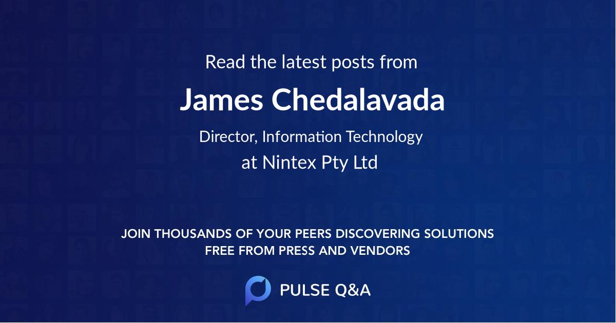 James Chedalavada