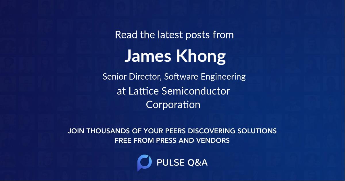 James Khong