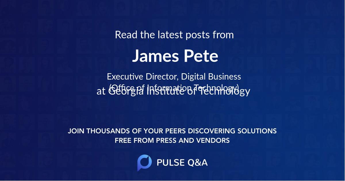 James Pete