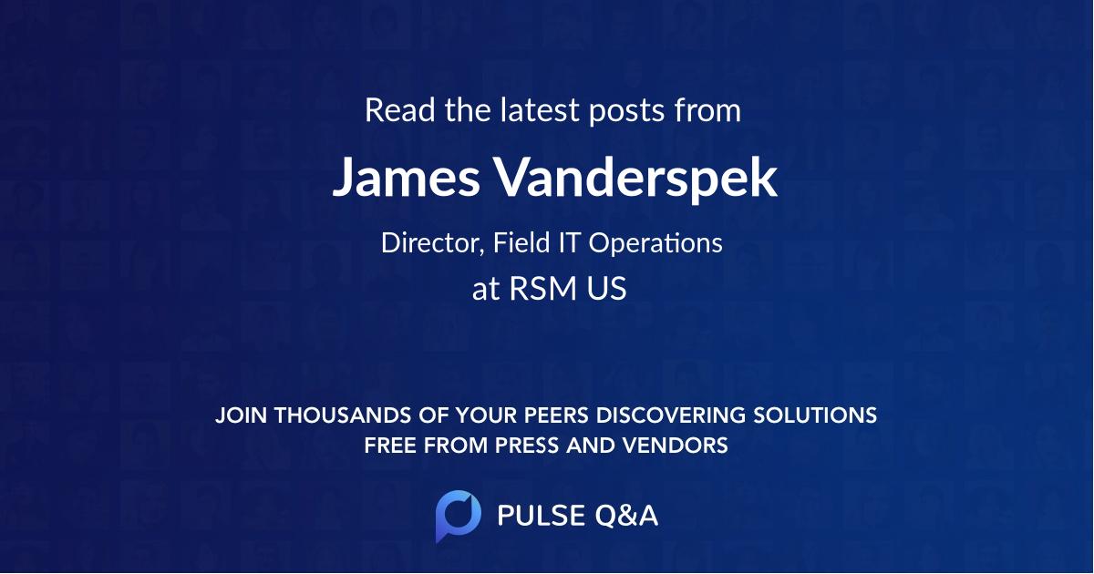 James Vanderspek