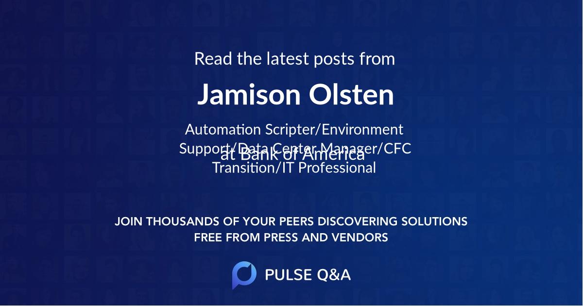 Jamison Olsten