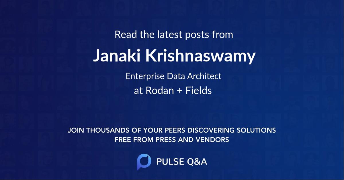 Janaki Krishnaswamy