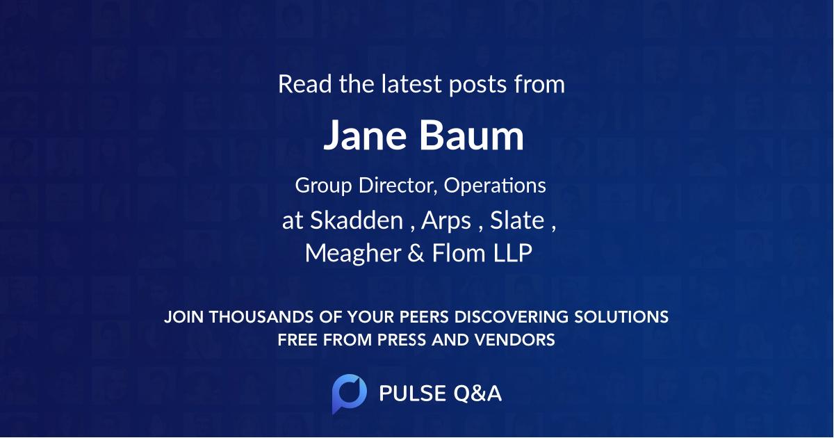 Jane Baum