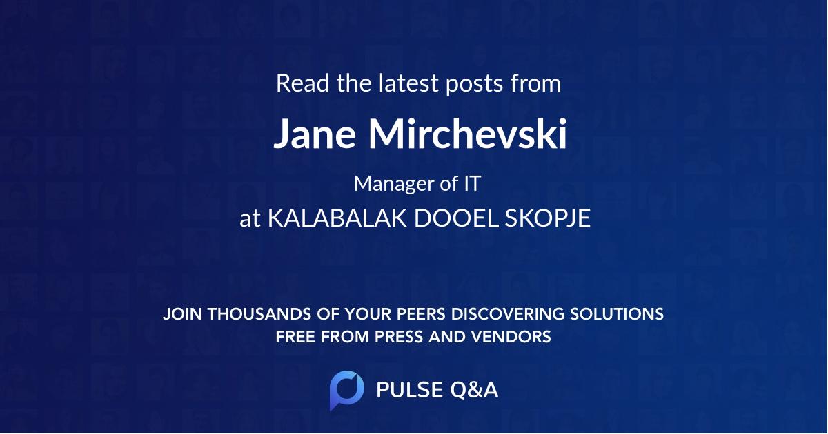 Jane Mirchevski