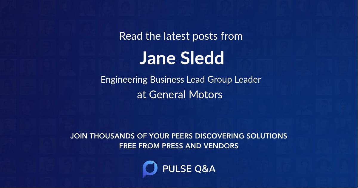 Jane Sledd