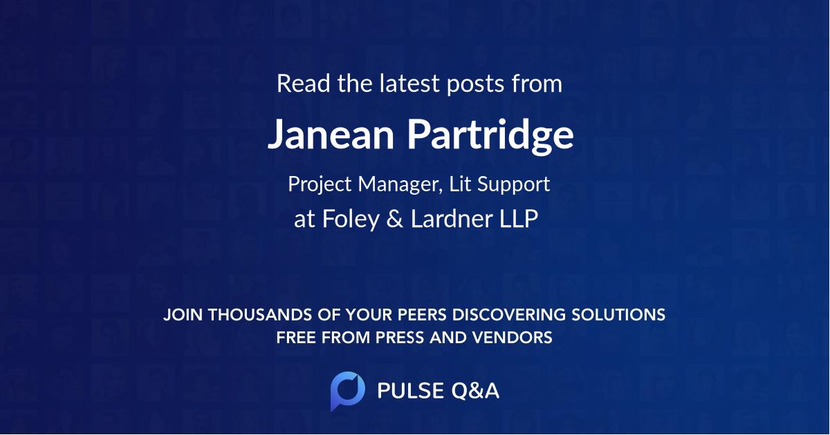 Janean Partridge