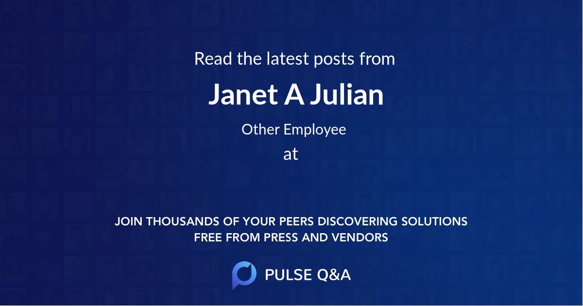 Janet A. Julian