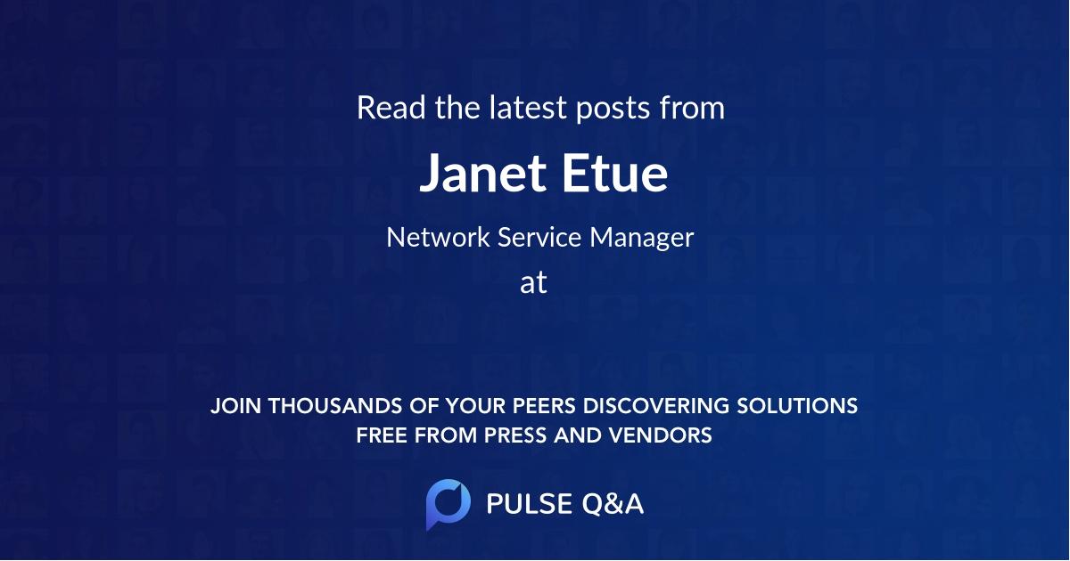 Janet Etue