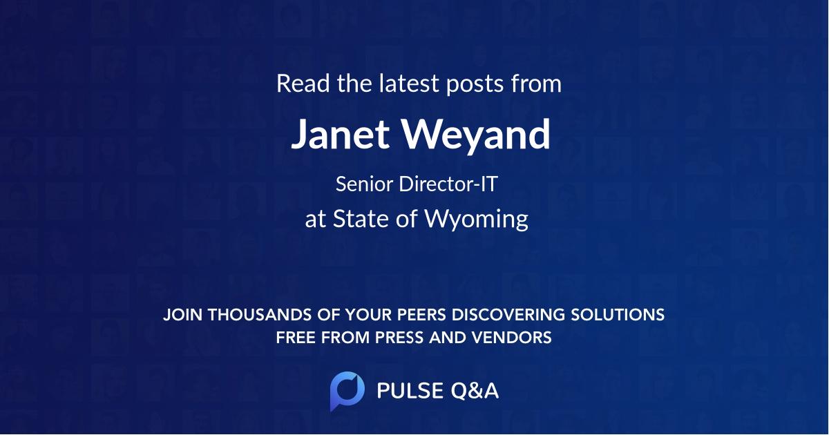 Janet Weyand