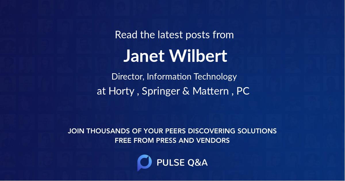 Janet Wilbert
