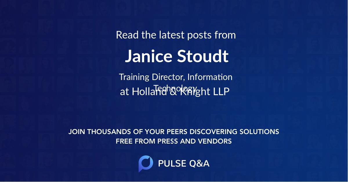 Janice Stoudt