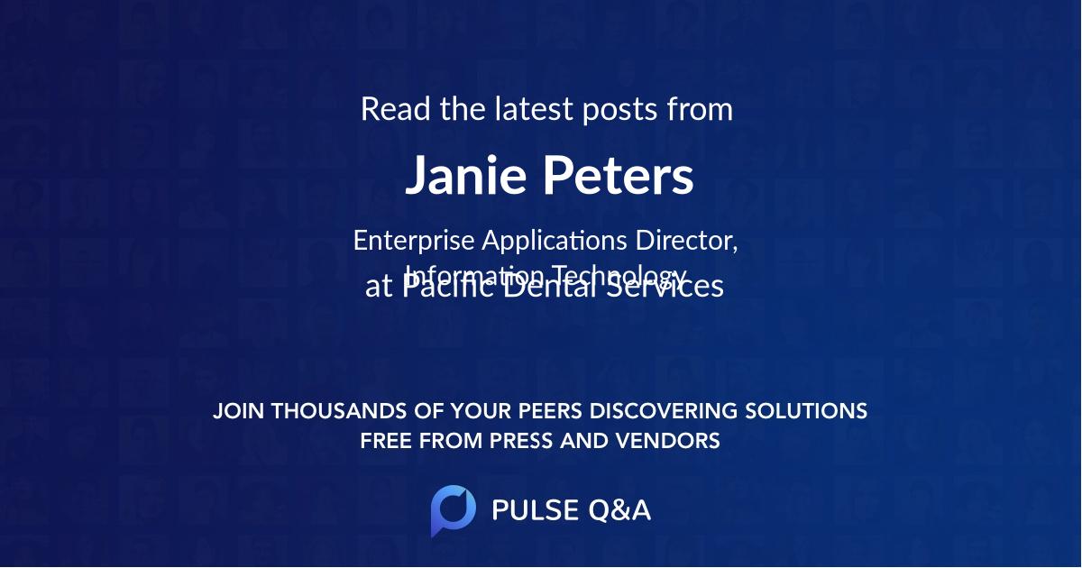Janie Peters
