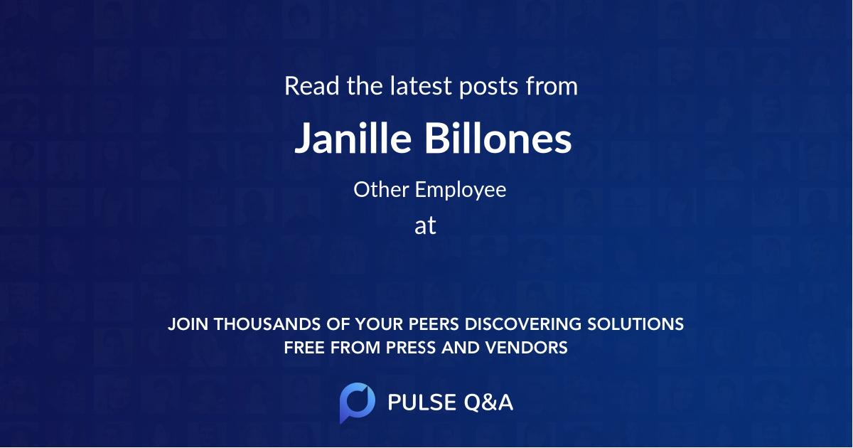 Janille Billones