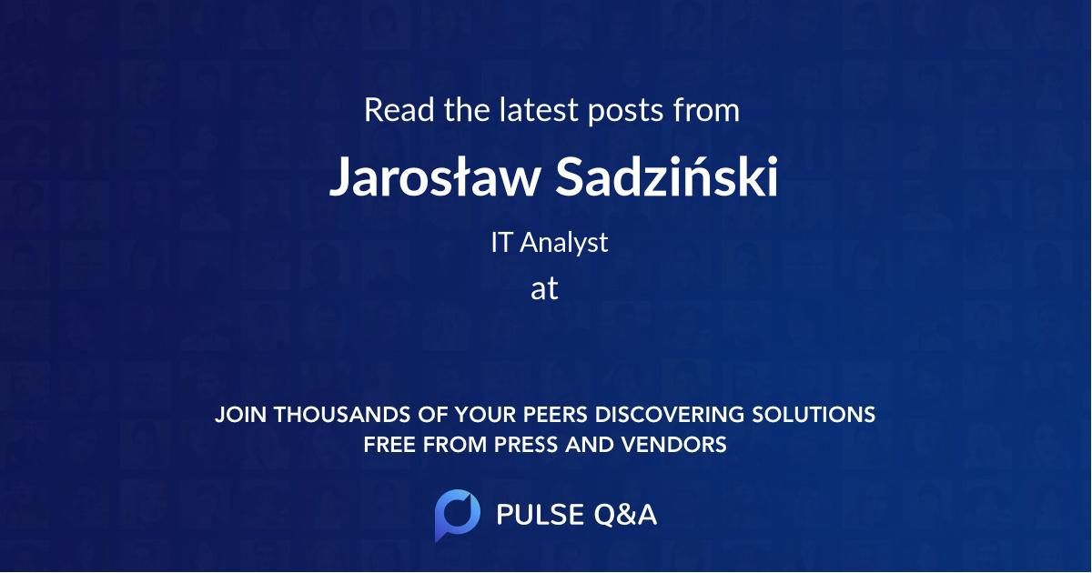Jarosław Sadziński