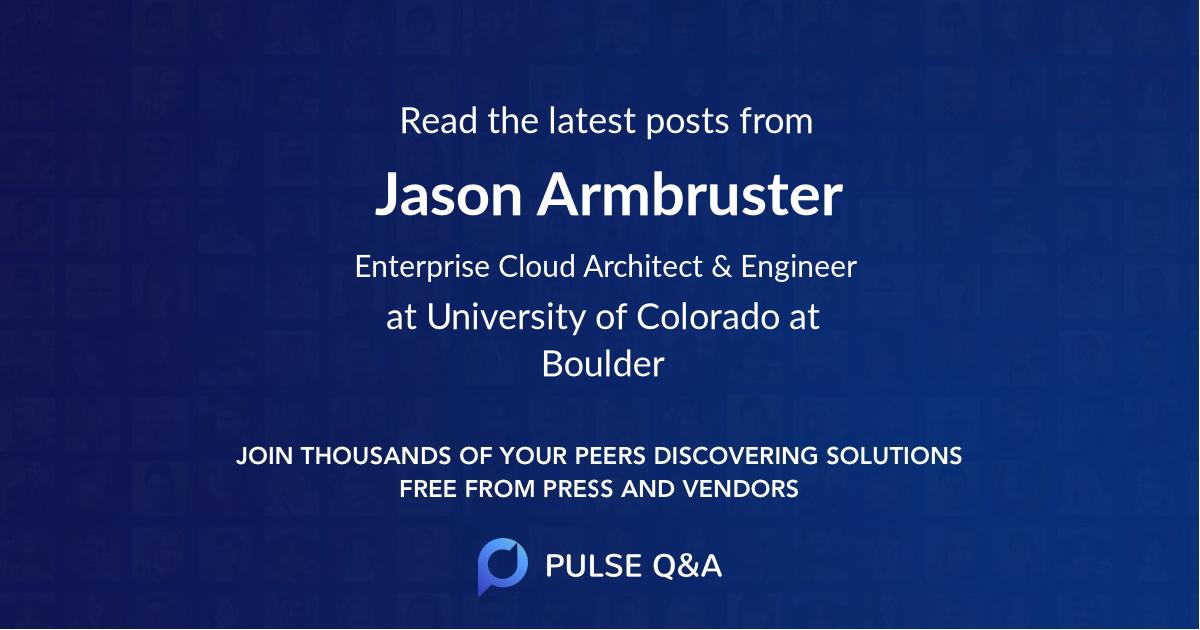 Jason Armbruster