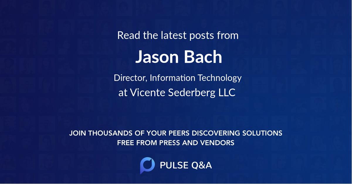 Jason Bach