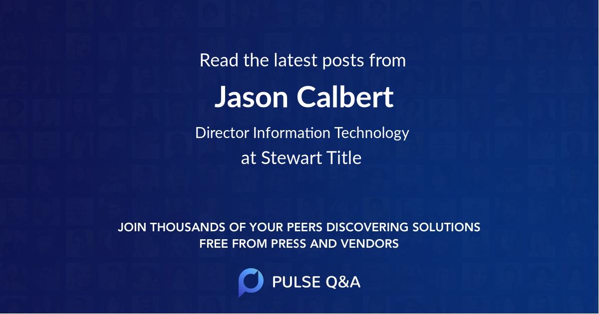 Jason Calbert