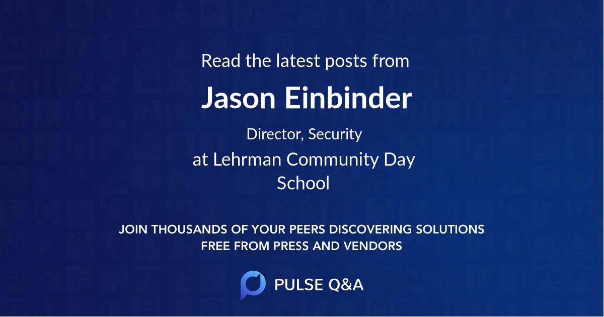 Jason Einbinder