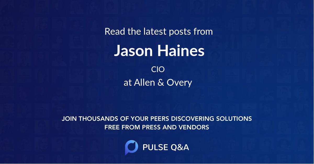 Jason Haines