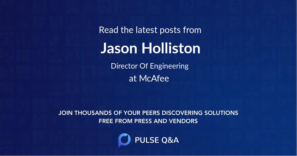 Jason Holliston