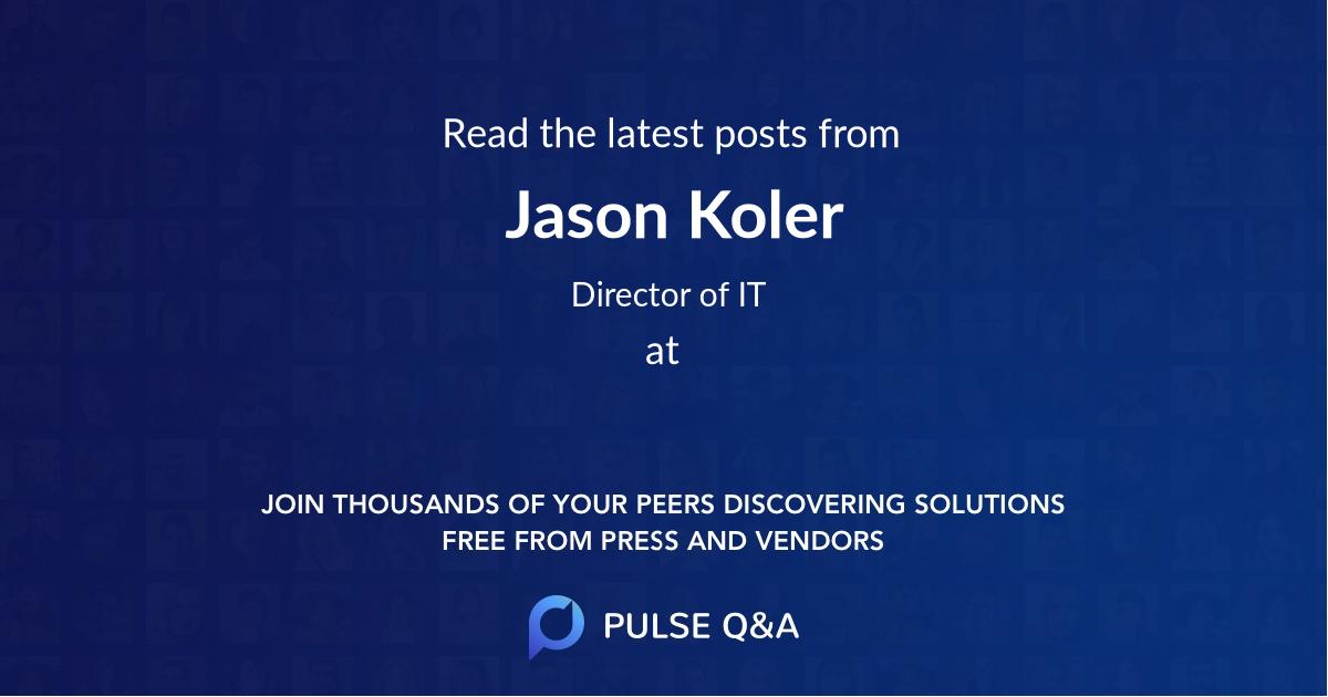 Jason Koler