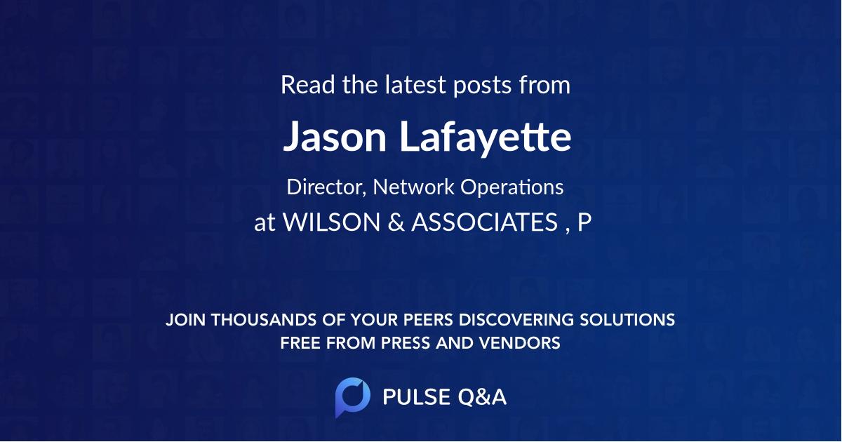 Jason Lafayette