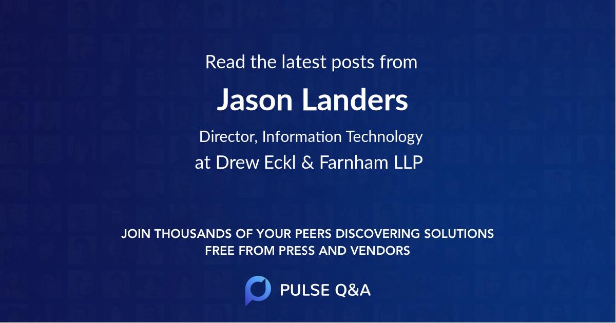 Jason Landers