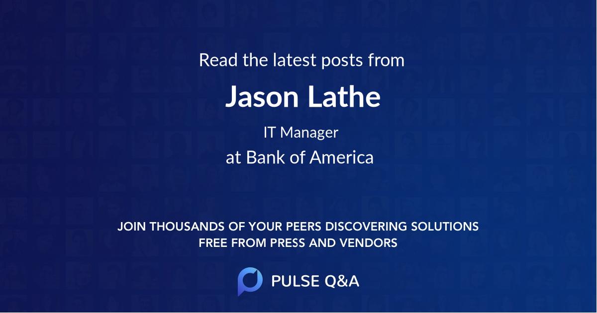 Jason Lathe
