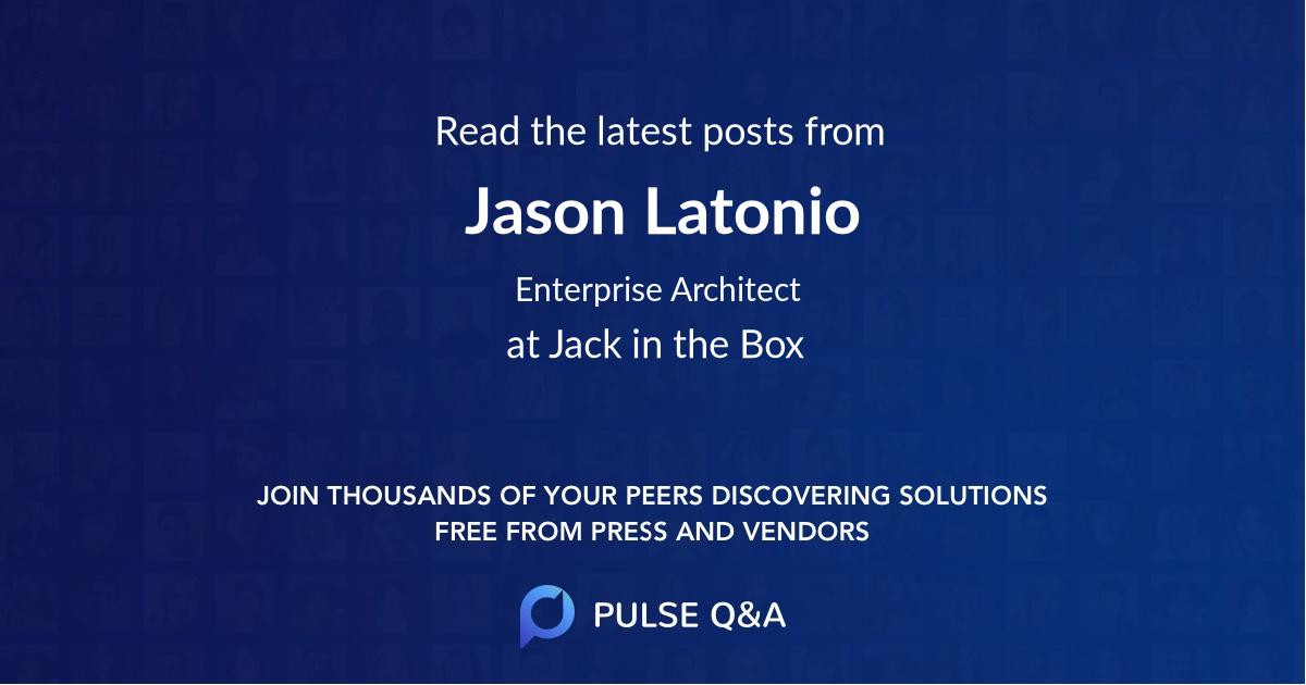 Jason Latonio