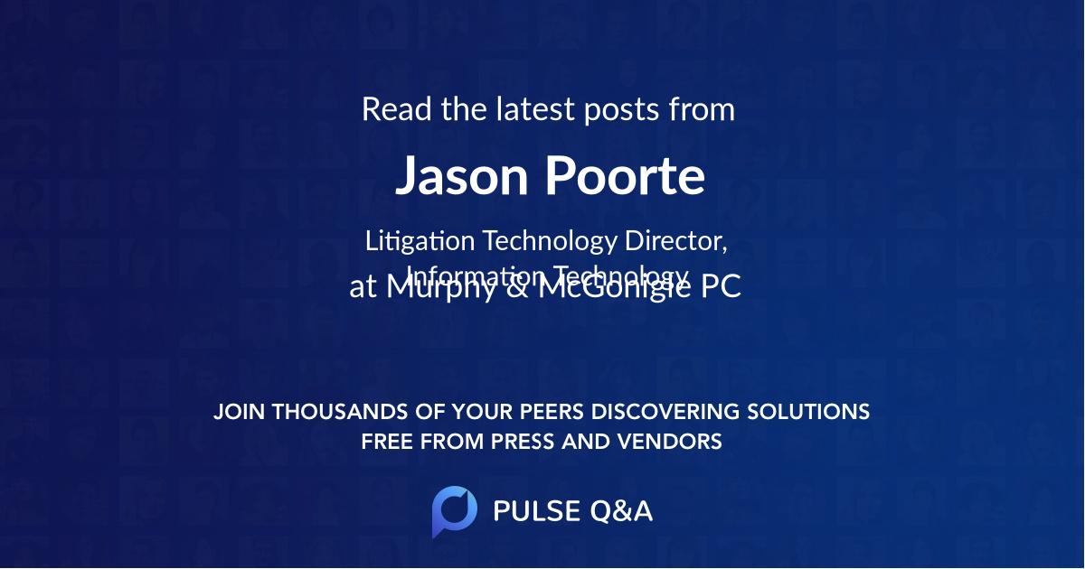 Jason Poorte