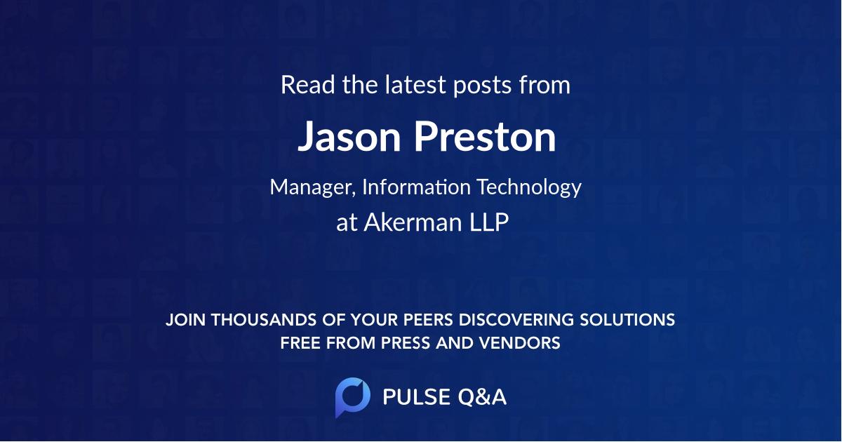 Jason Preston