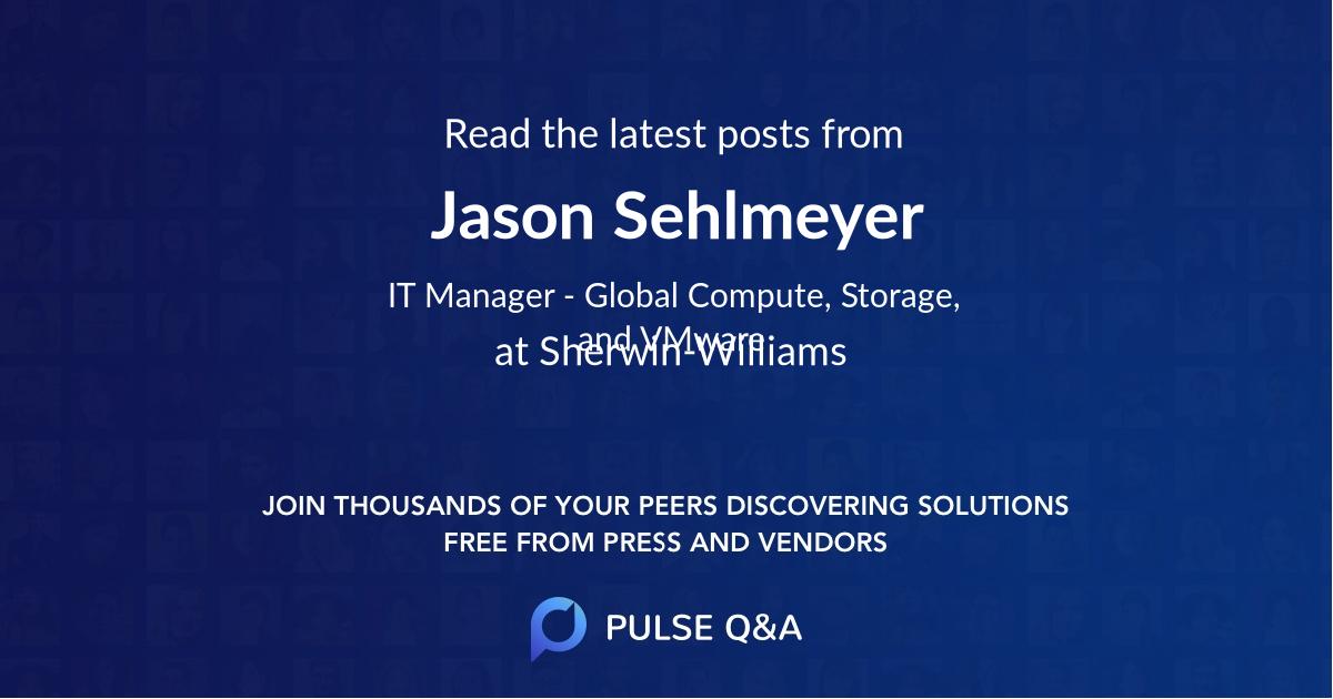 Jason Sehlmeyer