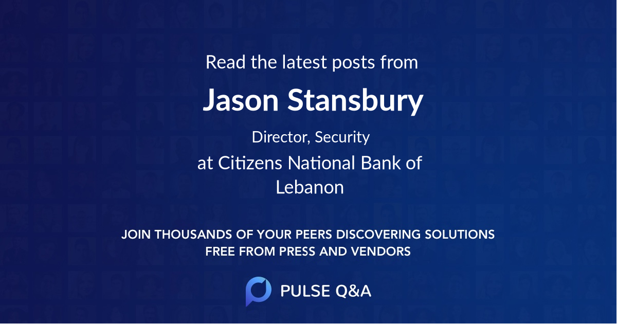 Jason Stansbury
