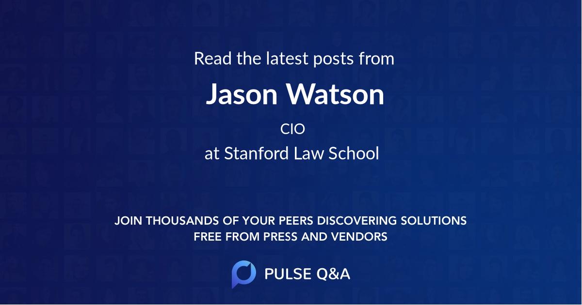 Jason Watson