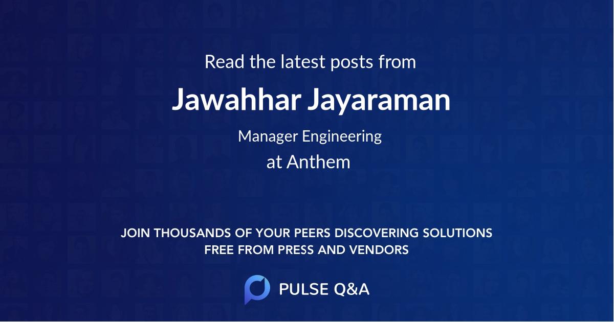 Jawahhar Jayaraman