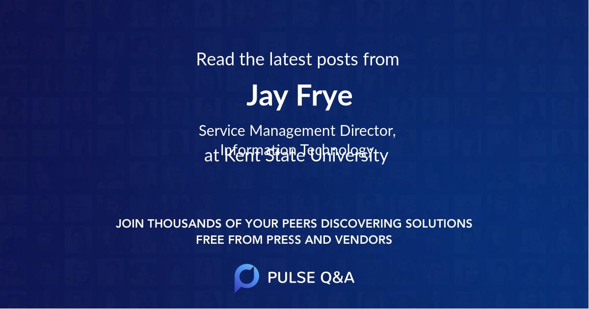 Jay Frye