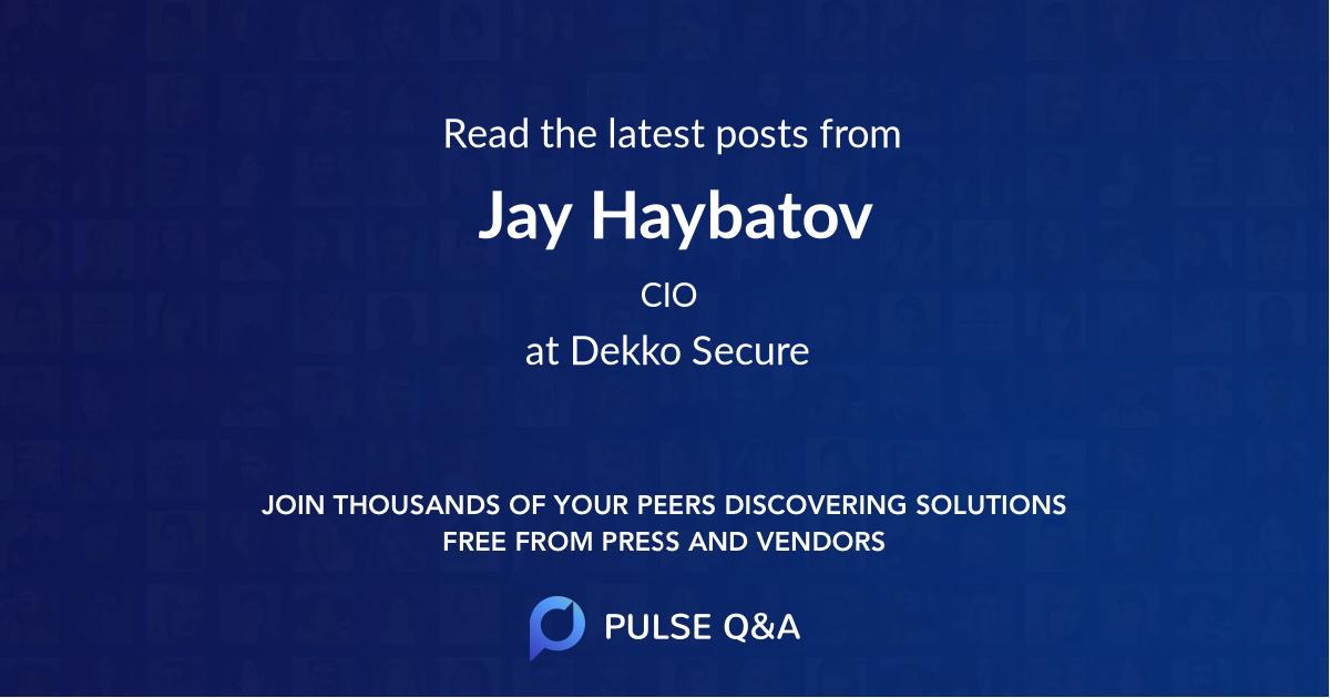 Jay Haybatov