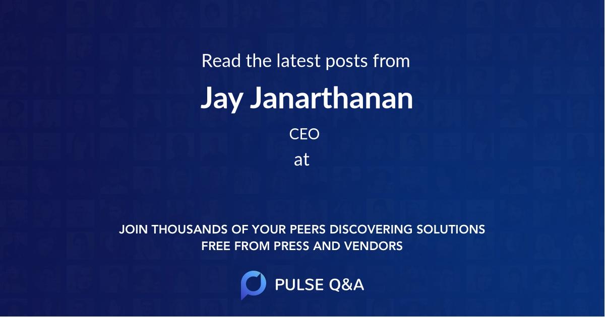 Jay Janarthanan