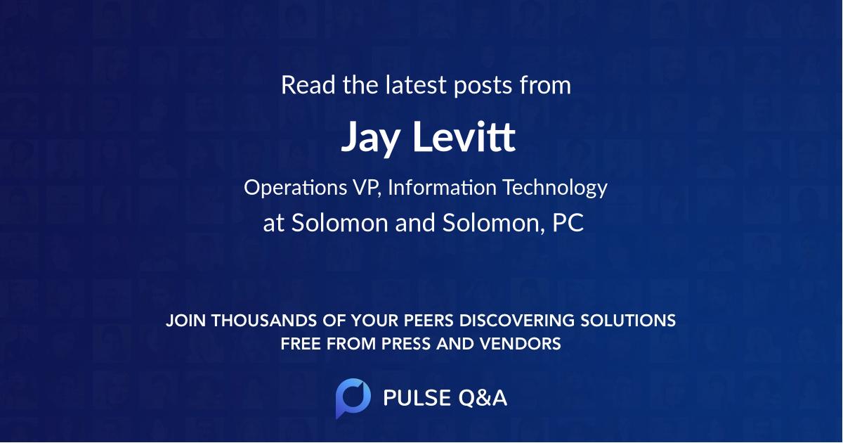 Jay Levitt