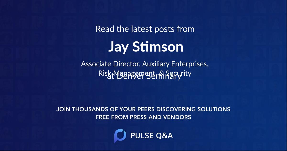 Jay Stimson